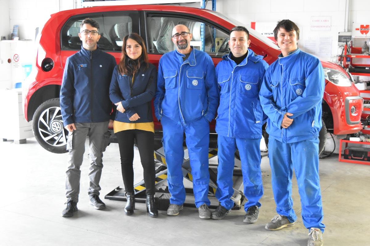 Il team della Carrozzeria Raco